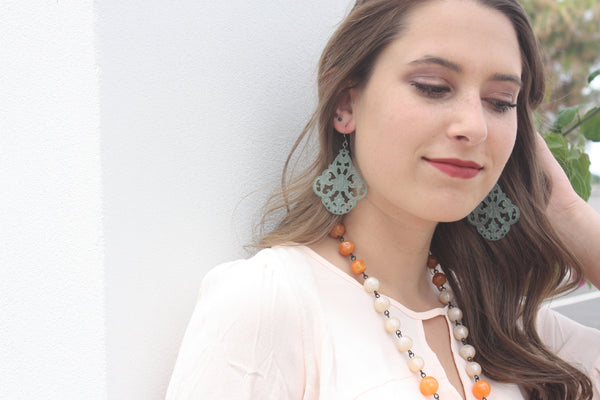lucite bohemian earrings