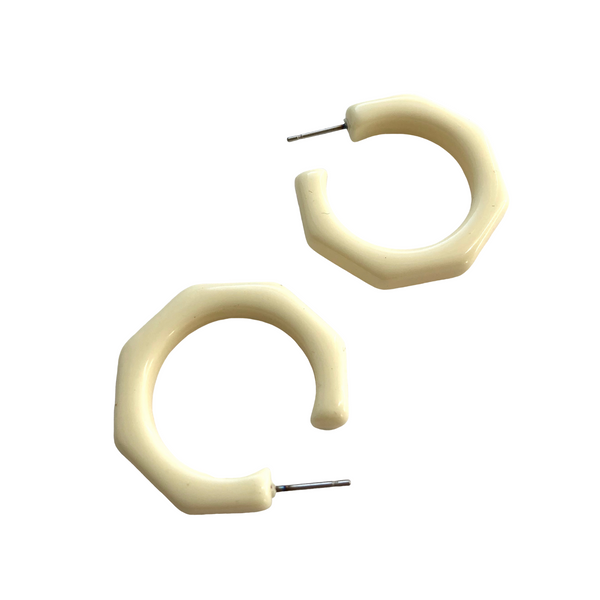 kay hoop earrings ivory