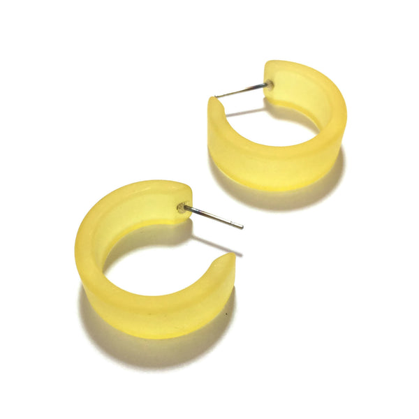 yellow wide hoops