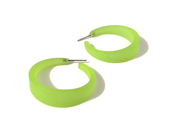 lime green emily hoops