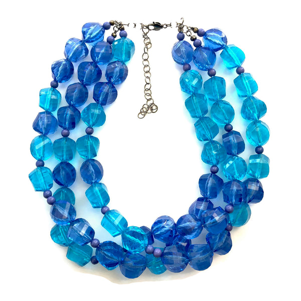aqua blue necklace