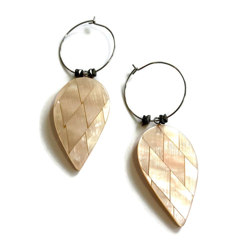 shell hoop earrings