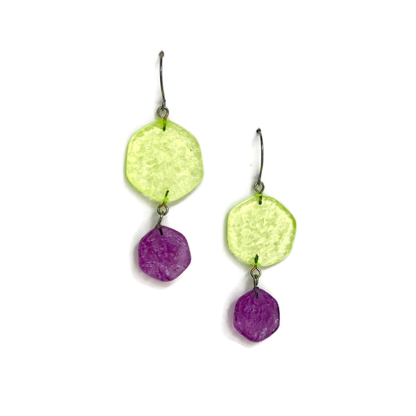 bright lucite earrings