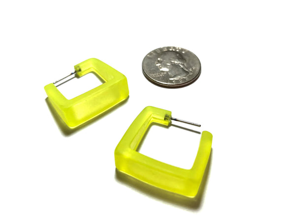 neon yellow hoop earrings