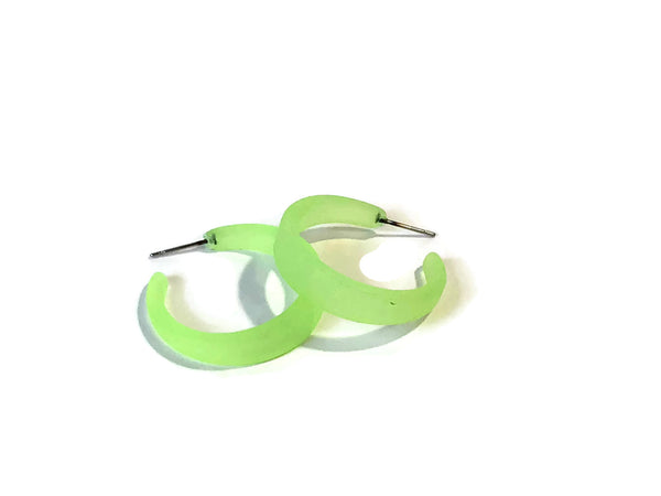bright neon green hoops