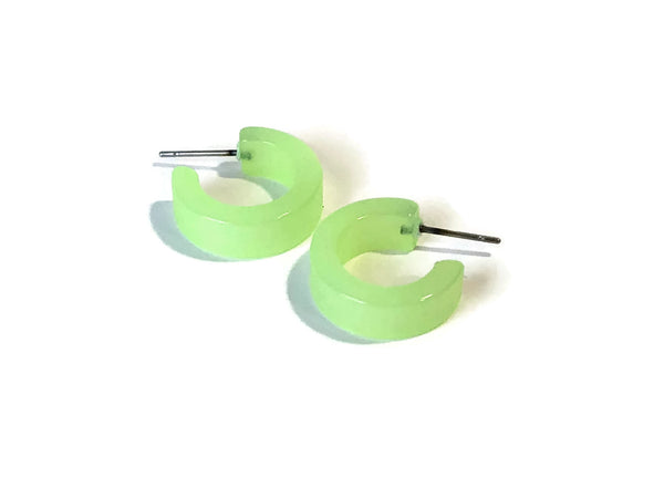 small bright green hoops