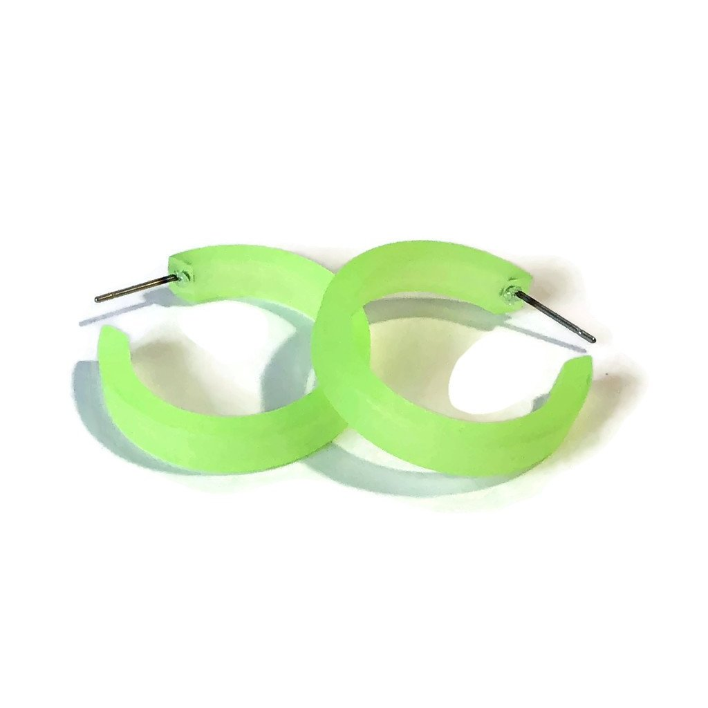 neon small classic hoops