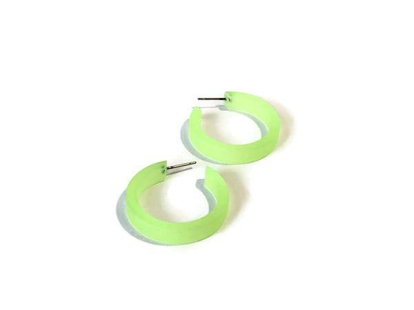 vintage neon green earrings