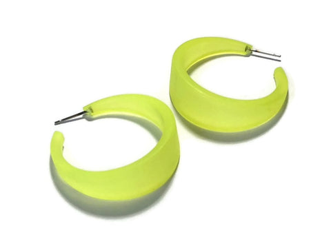 neon yellow emily hoops