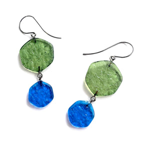 olive aqua earrings