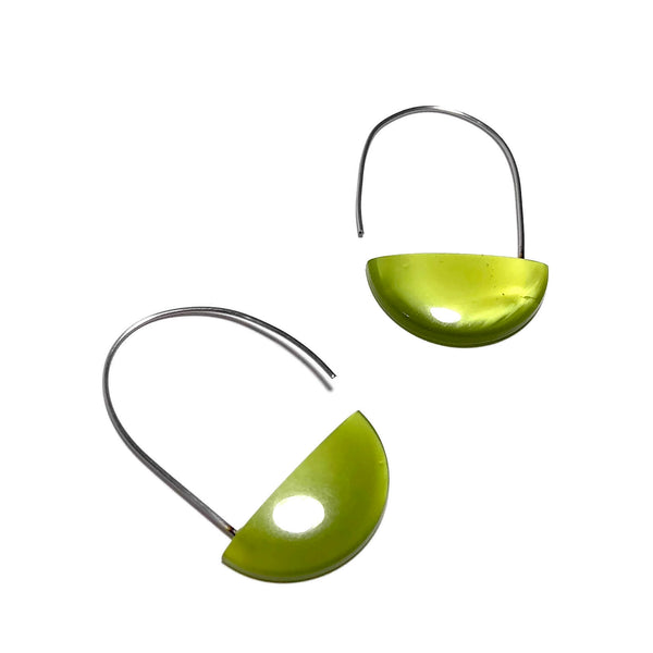 green moonglow statement earrings