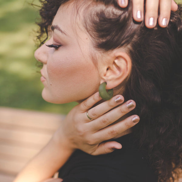 lucite chunky hoops