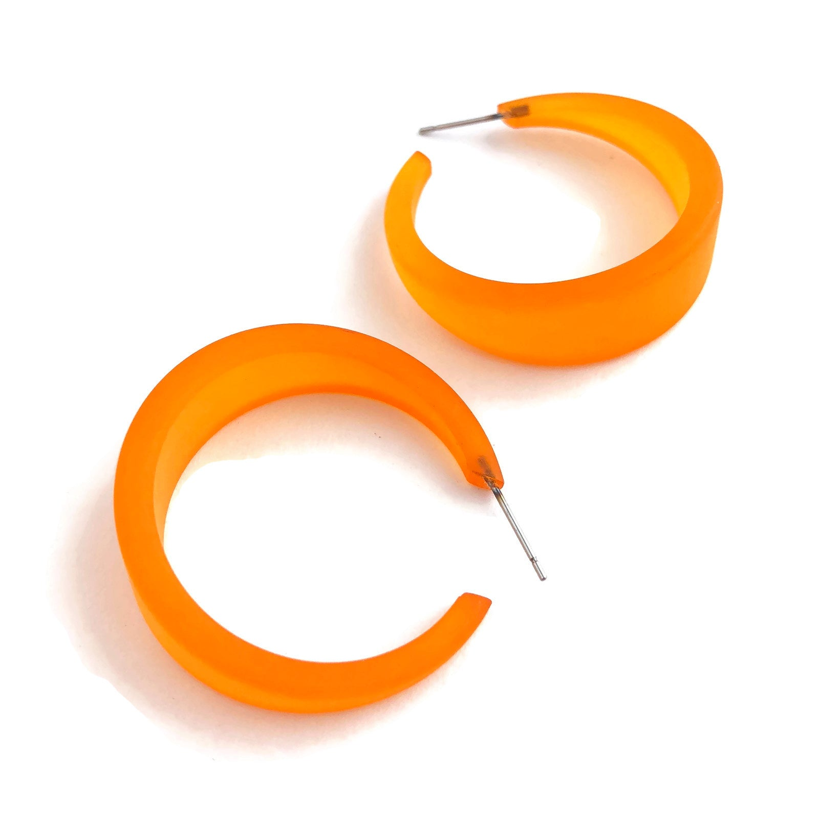 big orange hoops