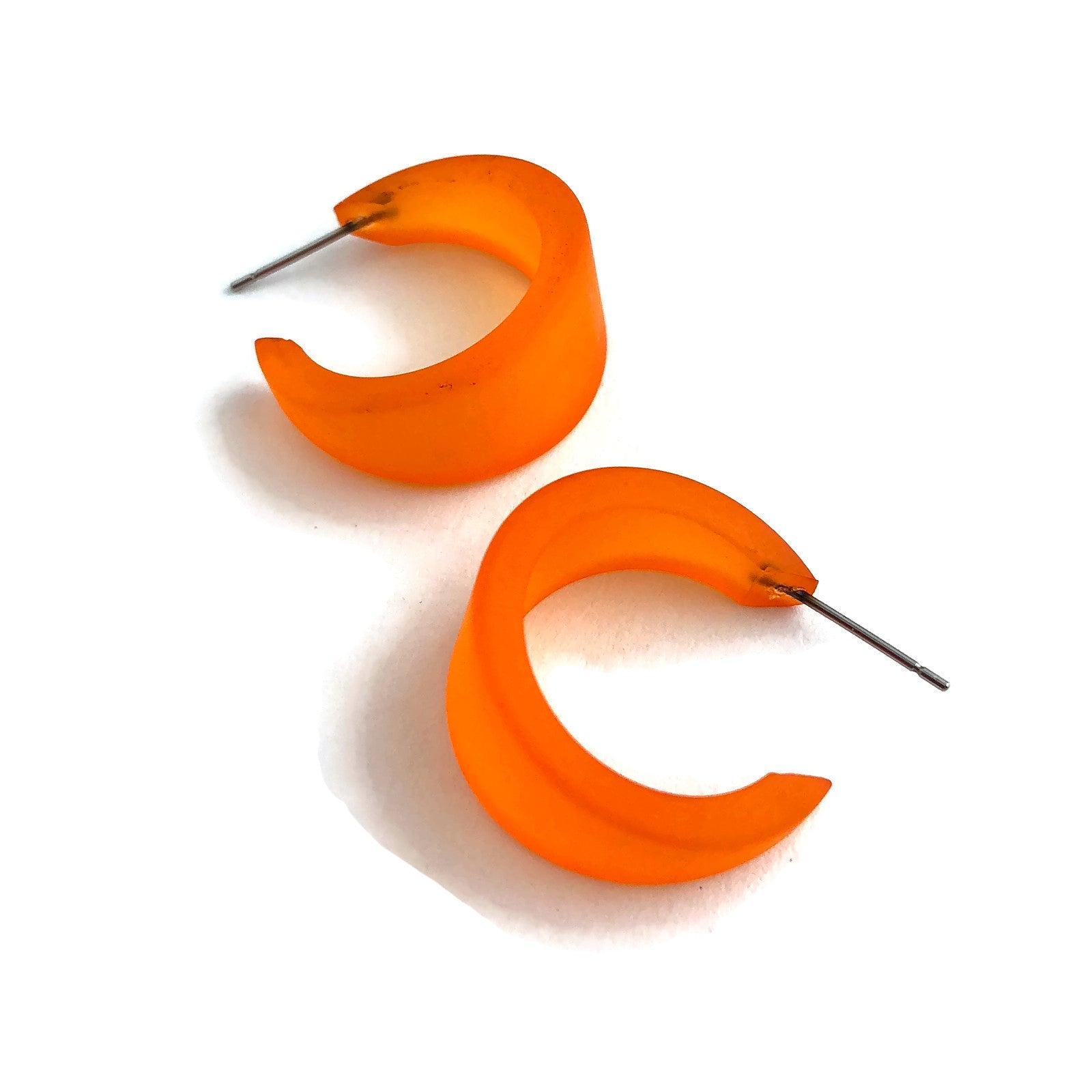 orange tapered hoops