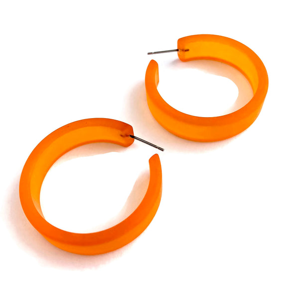 big orange earrings