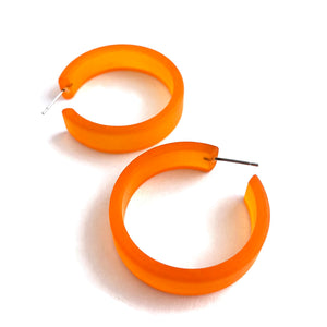 orange portland earrings