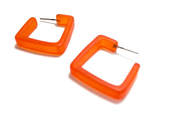 orange hoop earrings square