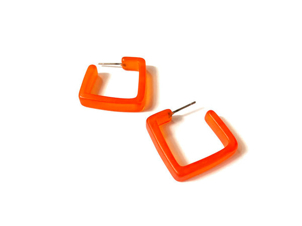 orange acrylic hoops