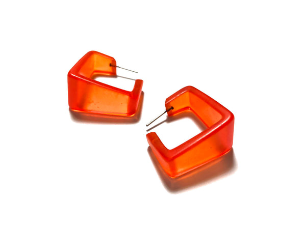 wide square orange hoops