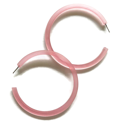 frosted light pink hoops
