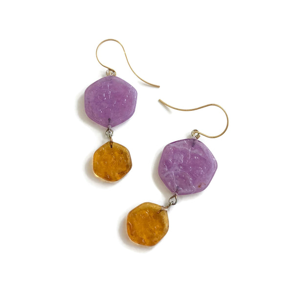 topaz purple earrings
