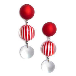 red white earrings