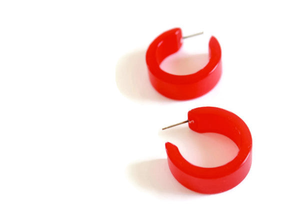 cherry red moonglow hoops