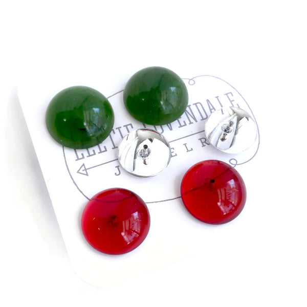 holiday lucite stud gifts