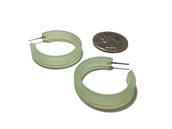 green hoop earrings