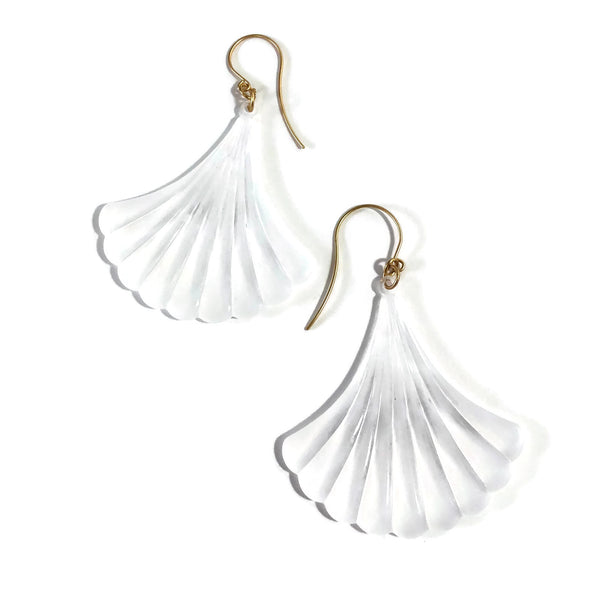 frosted lucite statement earrings