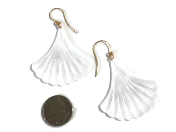 clear matte drop earrings