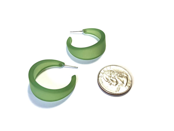 sea glass hoops