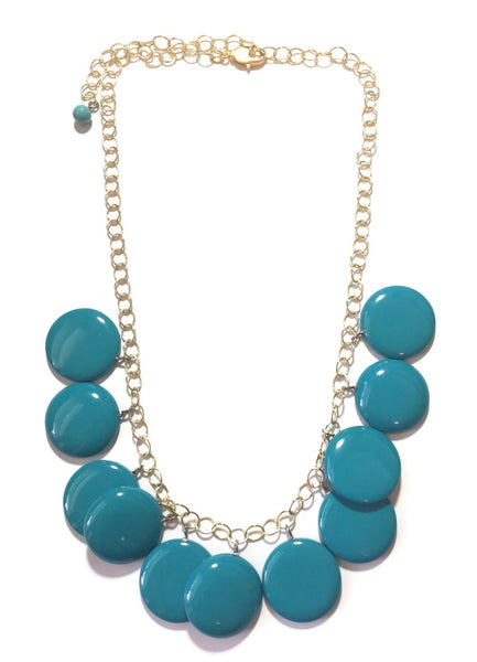 dark aqua necklace