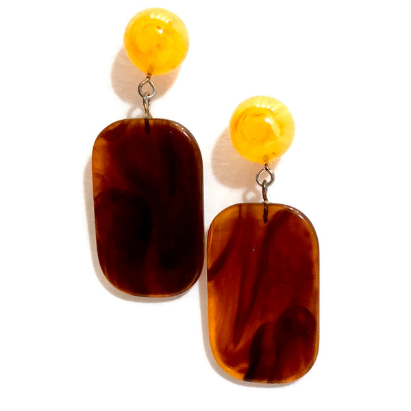 tortoise brown earrings