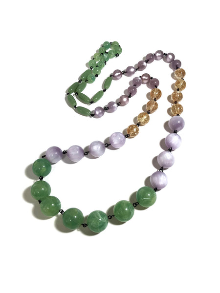lilac moonglow necklace
