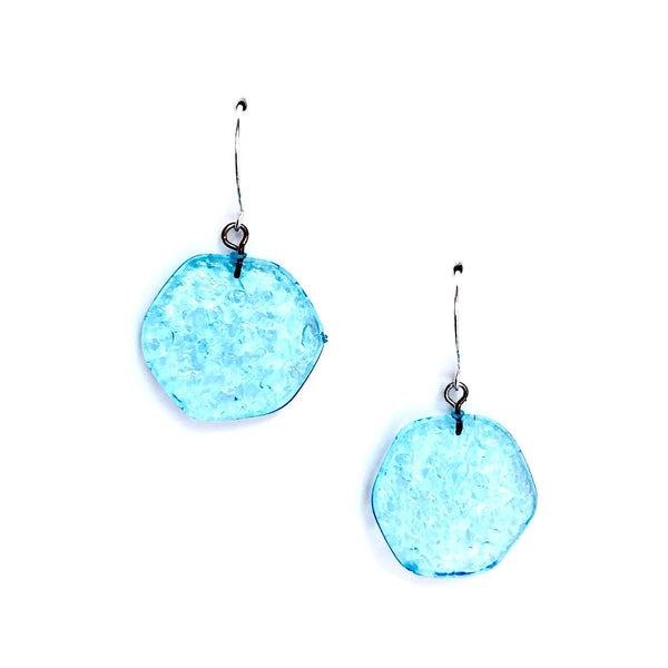 aqua dangle drop earrings