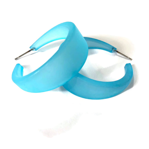 big blue hoop earrings