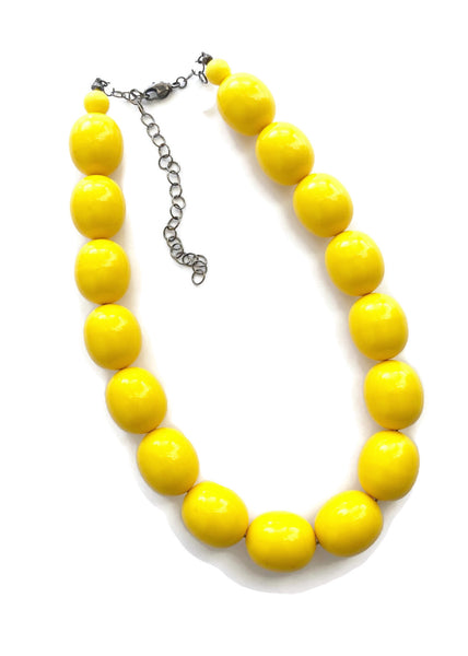 yellow oval beads