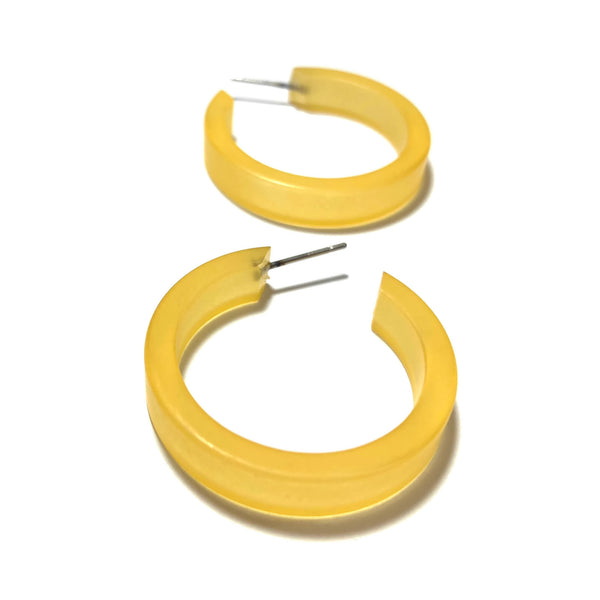yellow lucite hoops
