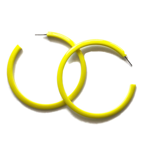 yellow bangle hoops