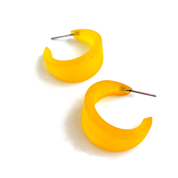 dark yellow hoop earrings
