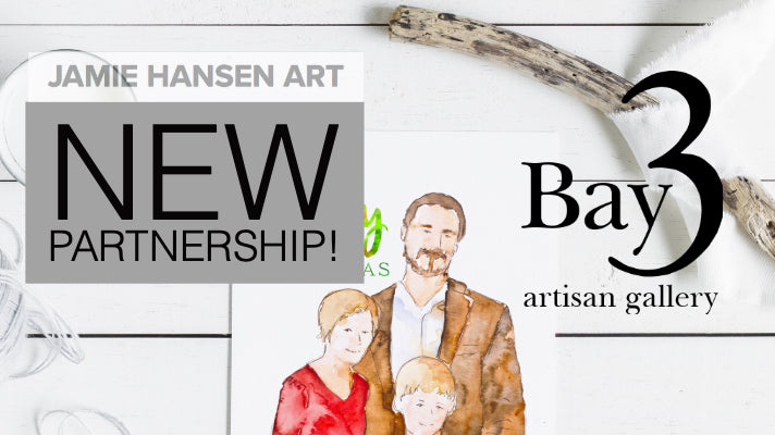 Announcing my partnership with Bay 3 Gallery!