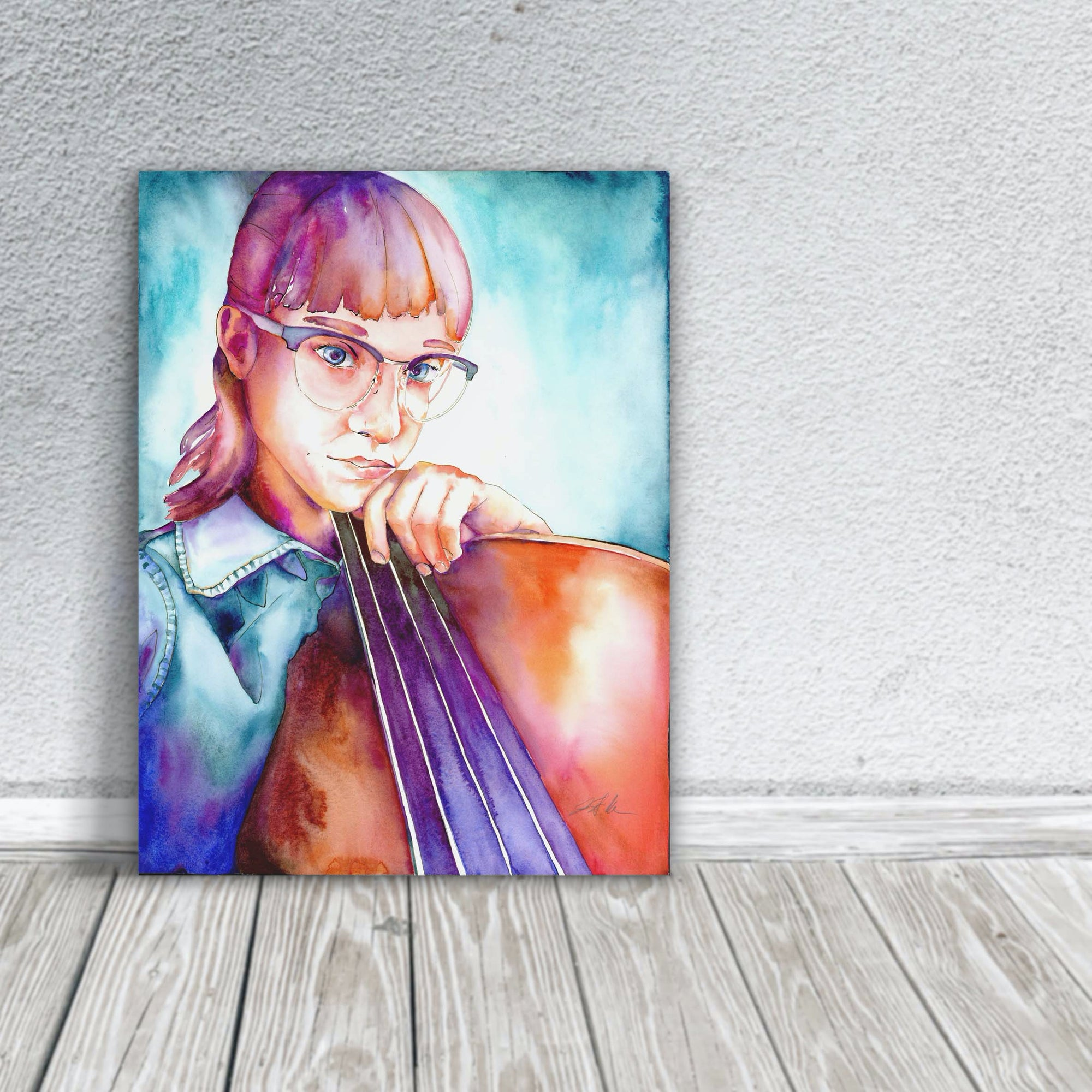 portrait of bass player