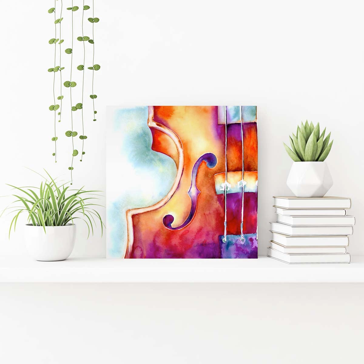 original painting of a violin