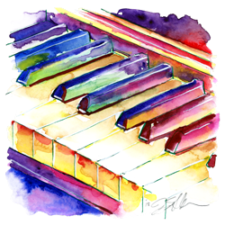 piano keyboard art