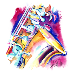 woodwinds instruments art