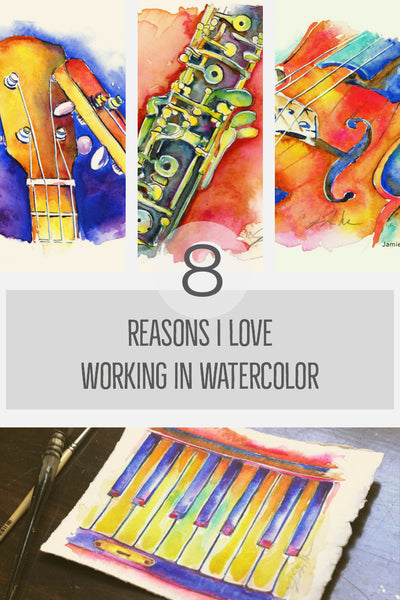 Reasons I love watercolor