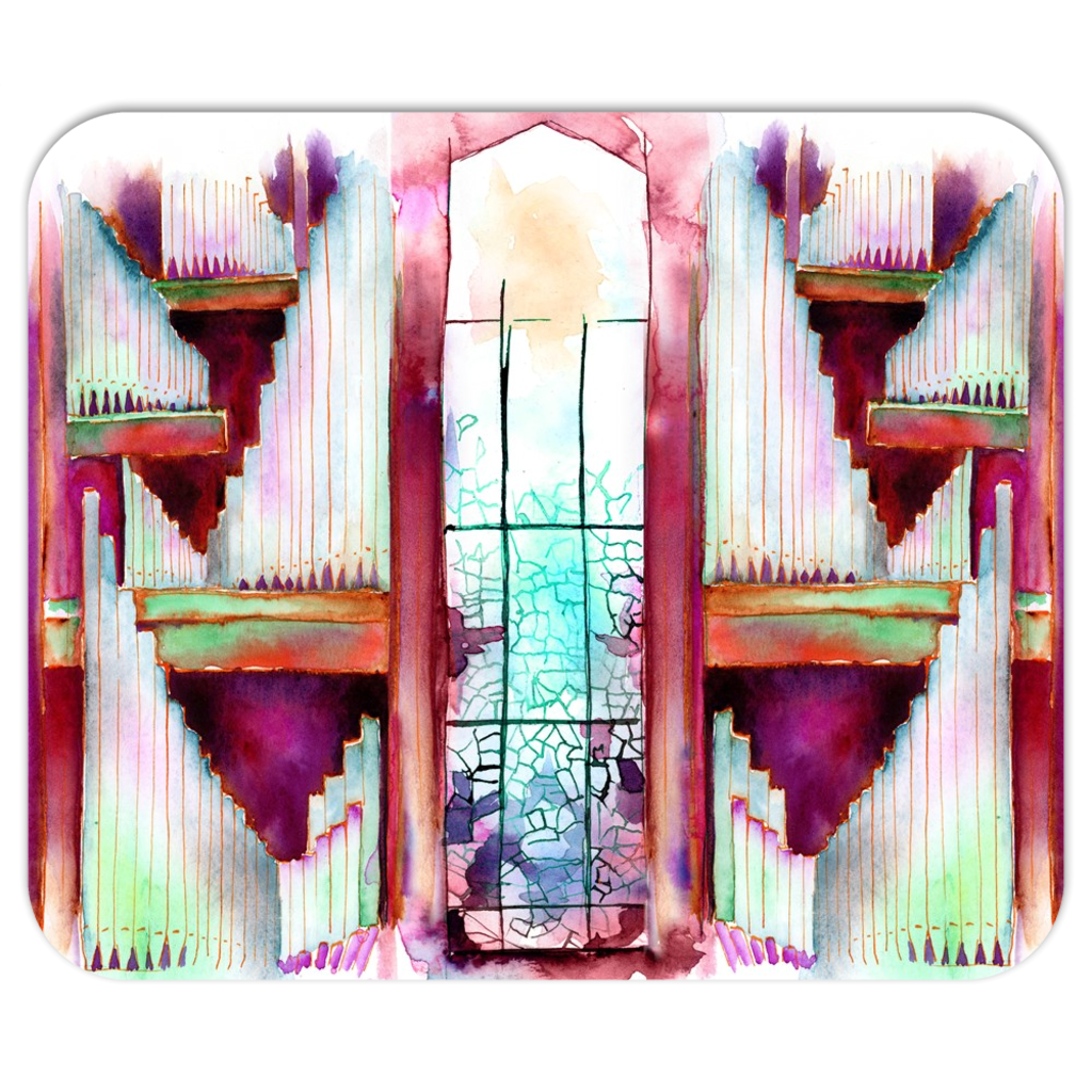 Mousepad with stained glass window art - Jamie Hansen Art