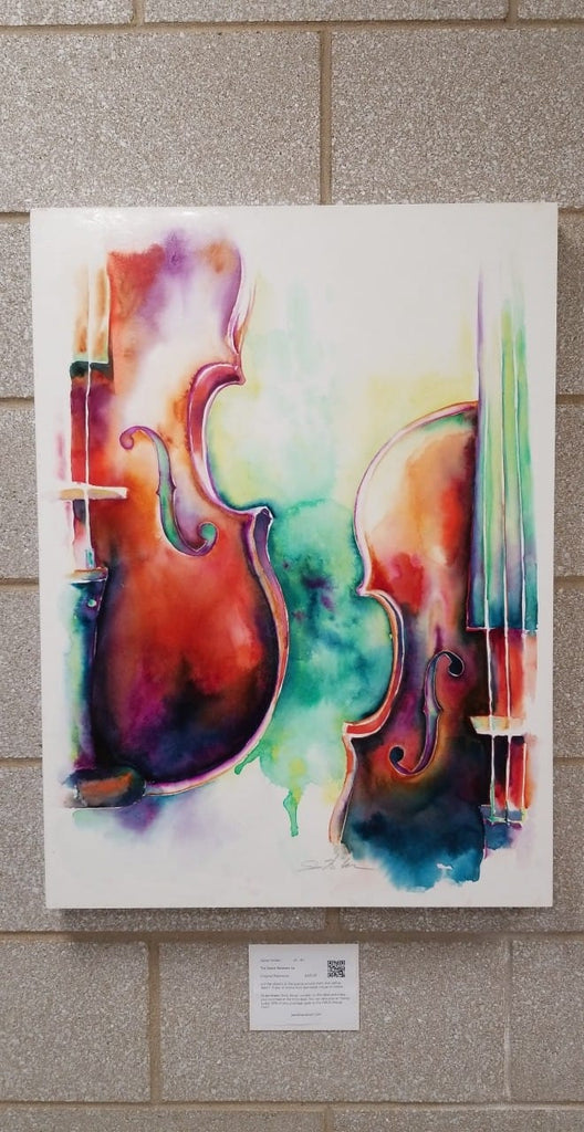 The Space Between Us: Two Violins Art by Jamie Hansen