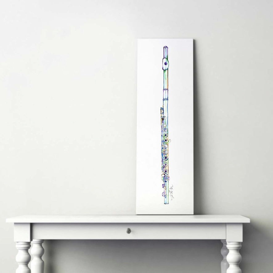 colorful flute painting on a table